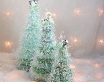 Christmas Trees The Mint Felted Forest OOAK