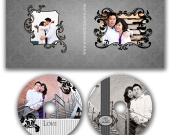 INSTANT DOWNLOAD - Dvd Label and Dvd Case Photoshop template - 0506
