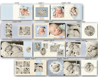 Baby Album template for Photographers - Timothy - 0352 FA