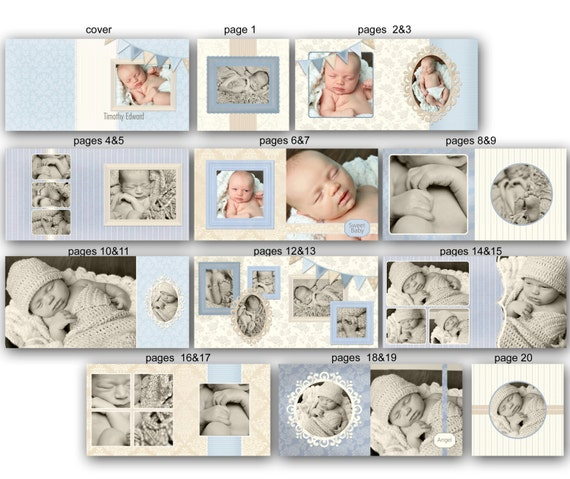 items similar to baby album template for photographers