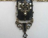 Vintage Edwardian Paste Lavalier Necklace
