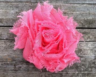 Bubblegum Pink Shabby Chic Chiffon Flower Hair Clip, Toddler Hair Clip, Shabby Flower Hair Clip, Pink Shabby Flower Hair Clip, Free Shipping