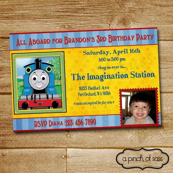 items similar to printable diy personalized thomas the train birthday party invitation on etsy