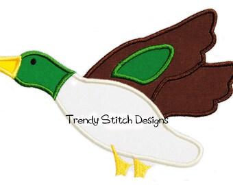 Mallard Duck Applique Machine Embroidery Design INSTANT DOWNLOAD
