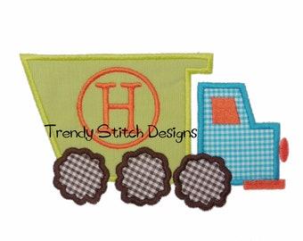 Dump Truck Applique Design Machine Embroidery Design Dumptruck monogram INSTANT DOWNLOAD