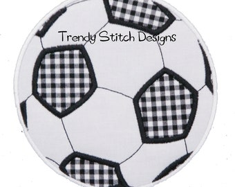 Soccer Ball Applique Design Machine Embroidery Design INSTANT DOWNLOAD Soccerball