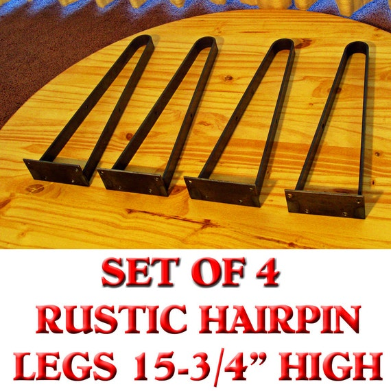 Rustic flat iron hairpin legs 15 75 high coffee by rusticliving