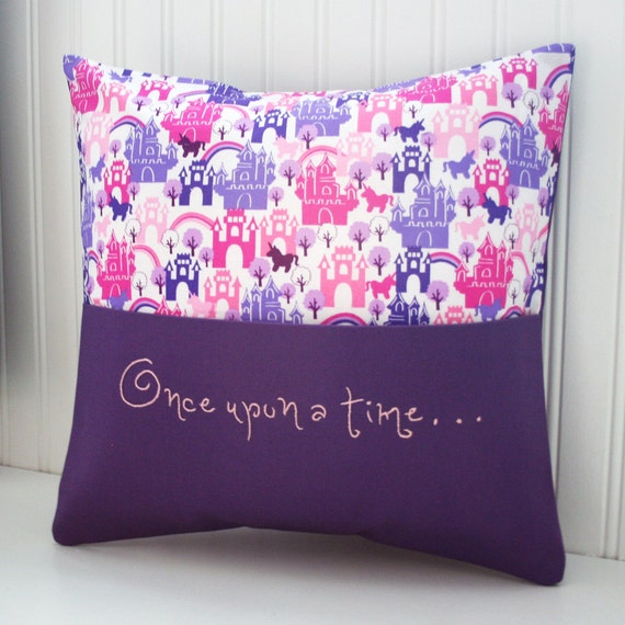 Items similar to hand embroidered reading pillow with book
