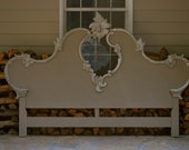 Vintage Upcycled French Provincial King Size Headboard