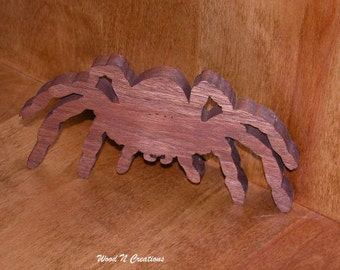 Wooden Spider will Stand or Hang for Halloween Decor - Creepy Spider