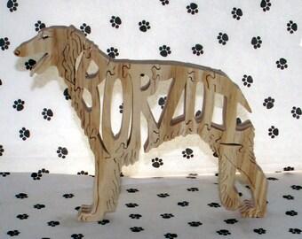 Borzoi Handmade Fretwork Wood Jigsaw Puzzle