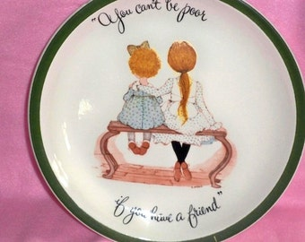 Holly Hobbie - Vintage Collector's Plate - 1972