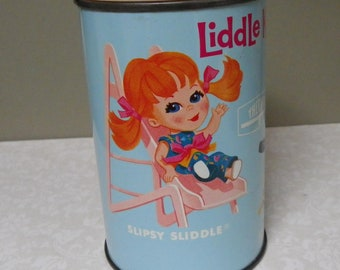 LIDDLE KIDDLES THERMOS, 1969, Original Drinking Cap, Vintage Vinyl Lunchbox Piece