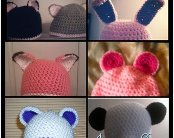 Baby hat with animal ears