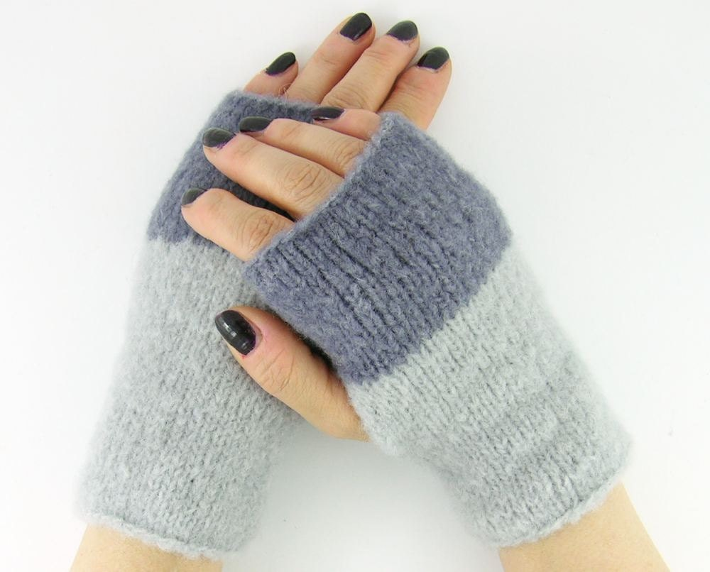 Knitting Pattern Gauntlet Gloves : Knit gauntlets knit fingerless gloves wrists warmers by ...