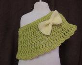 Crochet-Baby-Poncho-Green