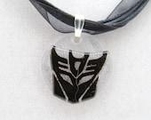 Black Lace Decepticon Necklace
