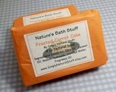 Frosted Carrot Cake Hot Process Soap - 4 oz Bath And Body Bar