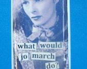 "domino pendant ""what would jo march do"" little women"