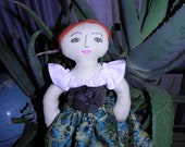 Bess, the Red Haired Renaissance Faire  Rag Doll