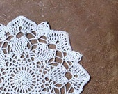 Love Hearts and Lace Crochet Doily, Home Decor, Fiber Art, Original Design by NutmegCottage