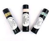 3 Organic Lip Balms - Variety Pack - Rose, Faerie, Mint, Infused Plants, Shea Butter Lip Balm in Recycled-Plastic Tubes