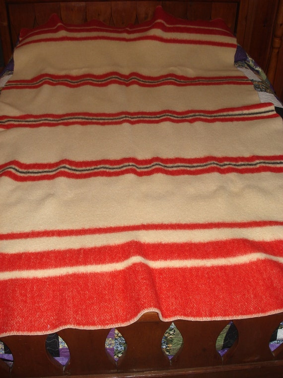 Vintage Faribo Wool Striped Blanket