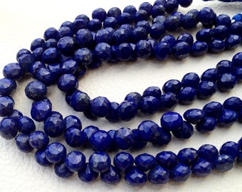 Brand New, Full 8 Inch,AAA Quality, LAPIS LAZULI Faceted Onions Shape Briolettes, 8-8.5mm Long, Great Price Item,Amazing Quality