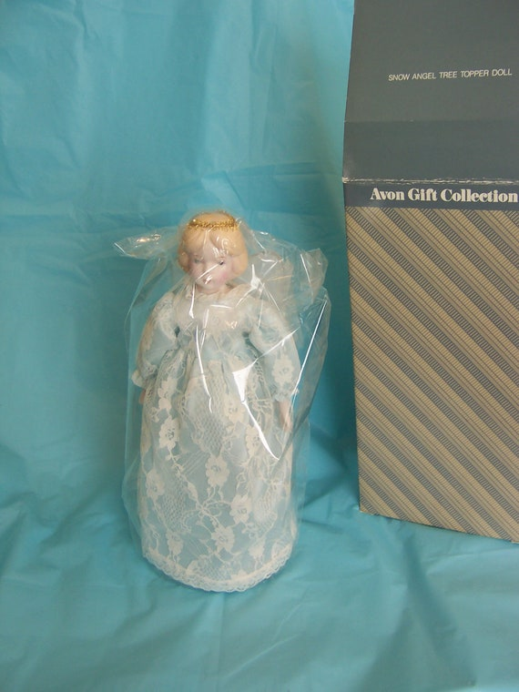 Vintage Snow Angel Tree Topper Doll Avon Gift Collection With