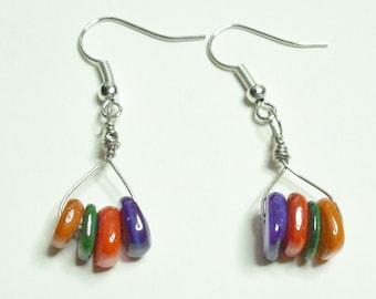 Multi-Color Dangle Earrings