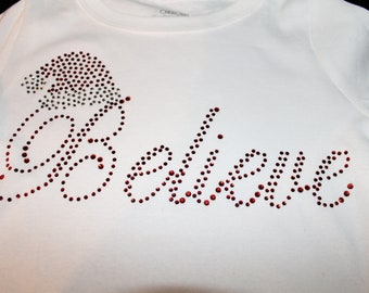 Believe BLING Shirt--Perfect for Christmas