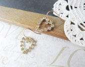 put a little love in your HEART rhinestone heart earrings (gold)
