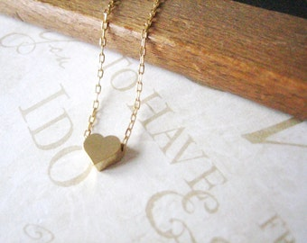 AMORE petite heart necklace (gold)