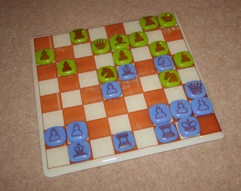 Glass Chess Set - Board AND Pieces