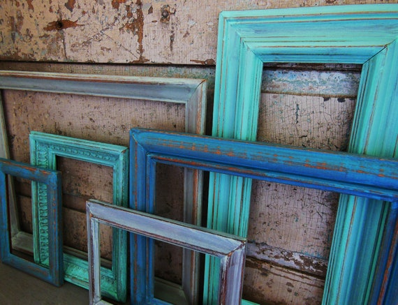 Picture Frame Gallery Sea Glass Collection Turquoise Blue Green