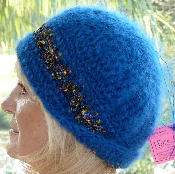 Women's Fashion / Women's Crochet Hats / Colorado Ski Accessories / Hats By Anne 1942 / Blue Winter Hat