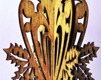 3-D Heart Wood Ornament