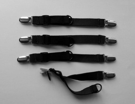 Stroller Blanket Strap:  Black Cinchables (set of 4)