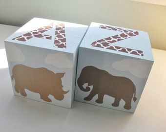 Bookends for Children- MOD ANIMALS Theme
