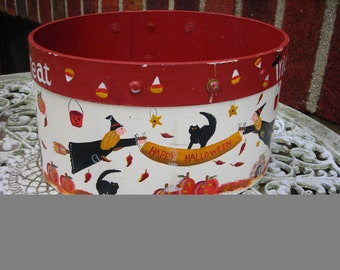 vintage candy box holloween wood hand paint
