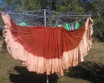 25yd Hand Dyed Rust/Peach skirt