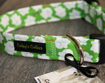 "Dog Collar ""Boo in Green"""
