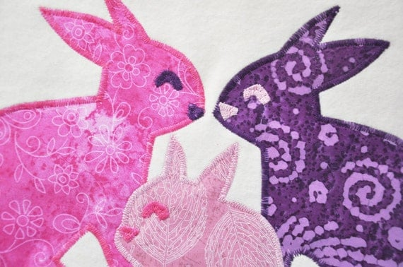 Organic Bunny Rabbit Baby Blanket for Girl by bankiebaby on Etsy