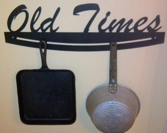 """Pot And Pans Rack """"old Times"""""""