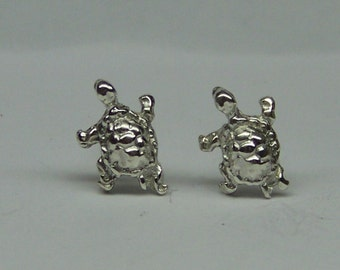 TURTLE STUD Earrings Sterling Silver Free Shipping