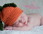 Fall or Halloween Pumpkin Beanie 0-3 months