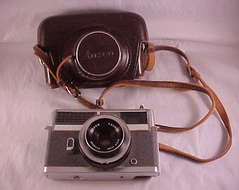 SALE Ansco Rokkor 35mm Camera With Leather Case and Strap