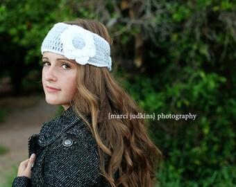 Crochet Pattern, Women's Headwrap, Lily Pattern - Instant Download Crochet Pattern