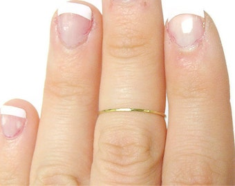 Gold knuckle ring 14k gold ring Above knuckle ring first knuckle ring upper knuckle ring above the knuckle ring midi ring stacking rings