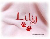Dog Blanket -  Personalized Paw Prints
